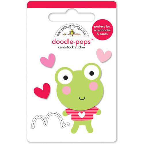 Doodlebug Design - Lovebugs Collection - Doodle-Pops - 3 Dimensional Cardstock Stickers - Leapfrog