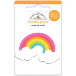 Doodlebug Design - Doodle-Pops - 3 Dimensional Cardstock Stickers - Happy Rainbow