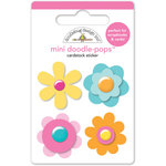 Doodlebug Design - Hello Sunshine Collection - Doodle-Pops - 3 Dimensional Cardstock Stickers - Mini - Fun Flowers