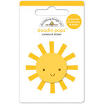 Doodlebug Design - Sun kissed Collection - Doodle-Pops - 3 Dimensional Cardstock Stickers - Mr. Sunshine