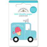Doodlebug Design - Sun kissed Collection - Doodle-Pops - 3 Dimensional Cardstock Stickers - Ice Cream Truck