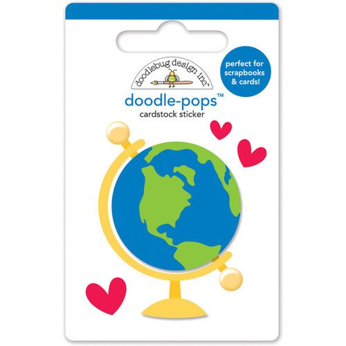 Doodlebug Design - Back to School Collection - Doodle-Pops - 3 Dimensional Cardstock Stickers - Small World