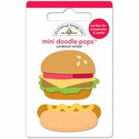 Doodlebug Design - Patriotic Picnic Collection - Doodle-Pops - 3 Dimensional Cardstock Stickers - Mini - Taste of Summer