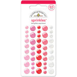 Doodlebug Design - Lovebugs Collection - Sprinkles - Self Adhesive Enamel Dots - Love Glitter