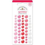 Doodlebug Design - Lovebugs Collection - Sprinkles - Self Adhesive Enamel Dots - Love Glitter