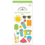 Doodlebug Design - Sun kissed Collection - Sprinkles - Self Adhesive Enamel Shapes - Summer