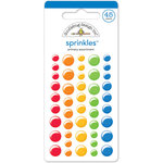 Doodlebug Design - Back to School Collection - Sprinkles - Self Adhesive Enamel Dots - Primary Assortment