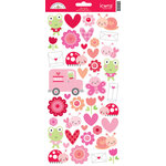 Doodlebug Design - Lovebugs Collection - Cardstock Stickers - Icons