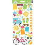 Doodlebug Design - Sun kissed Collection - Cardstock Stickers - Icons