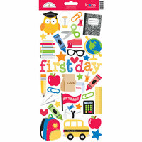 Doodlebug Design - Back to School Collection - Cardstock Stickers - Icons