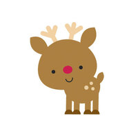 Doodlebug Design - Christmas Collection - Mini Icon Stickers - Reindeer