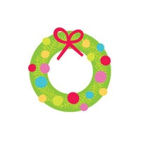 Doodlebug Design - Christmas Collection - Mini Icon Stickers - Holiday Wreath