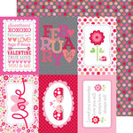 Doodlebug Design - Lovebugs Collection - 12 x 12 Double Sided Paper - Dreamy Dots