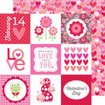 Doodlebug Design - Lovebugs Collection - 12 x 12 Double Sided Paper - All My Heart