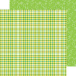 Doodlebug Design - Happy-Go-Lucky Collection - 12 x 12 Double Sided Paper - St. Paddy Plaid