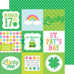 Doodlebug Design - Happy-Go-Lucky Collection - 12 x 12 Double Sided Paper - Leprechaun Polka