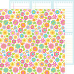 Doodlebug Design - Hello Sunshine Collection - 12 x 12 Double Sided Paper - Bright Blossoms