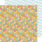 Doodlebug Design - Hello Sunshine Collection - 12 x 12 Double Sided Paper - Sunshine Drops