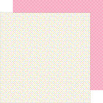 Doodlebug Design - Hello Sunshine Collection - 12 x 12 Double Sided Paper - Sweet Swiss Dot