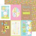 Doodlebug Design - Easter Parade Collection - 12 x 12 Double Sided Paper - Darling Daisies