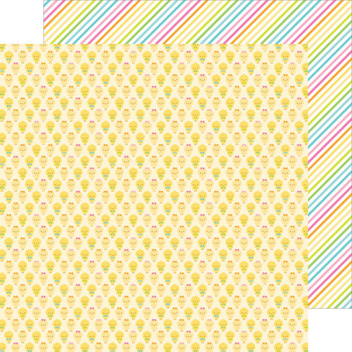 Doodlebug Design - Easter Parade Collection - 12 x 12 Double Sided Paper - Chickie Babies