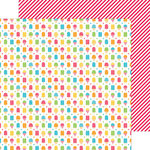 Doodlebug Design - Sun kissed Collection - 12 x 12 Double Sided Paper - Cool Treats