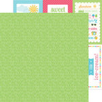 Doodlebug Design - Sun kissed Collection - 12 x 12 Double Sided Paper - Green Grass