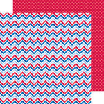 Doodlebug Design - Patriotic Picnic Collection - 12 x 12 Double Sided Paper - Colors of Courage