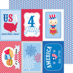 Doodlebug Design - Patriotic Picnic Collection - 12 x 12 Double Sided Paper - Polka-Dot Pride