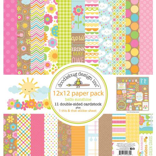 Doodlebug Design - Hello Sunshine Collection - 12 x 12 Paper Pack