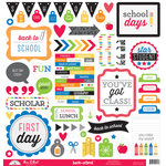 Doodlebug Design - Back to School Collection - 12 x 12 Cardstock Stickers - This and That