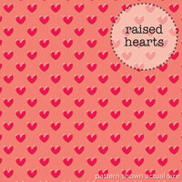 Doodlebug Design - Lovebugs Collection - Sprinkles Vellum - 12 x 12 Vellum - Red Hearts