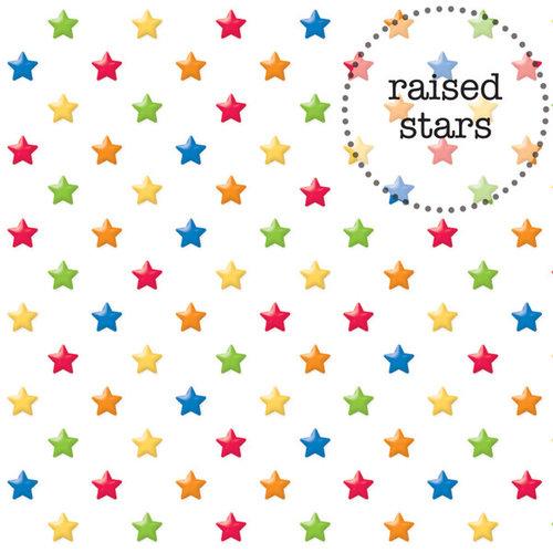 Doodlebug Design - Back to School Collection - Sprinkles Vellum - 12 x 12 Vellum - Primary Stars