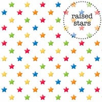 Doodlebug Design - Back to School Collection - Sprinkles Vellum - 12 x 12 Vellum - Primary Stars