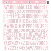 Doodlebug Designs - Cardstock Stickers - Skinny Alphabet - Cupcake