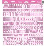 Doodlebug Design - Cardstock Stickers - Skinny Alphabet - Bubblegum