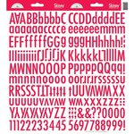 Doodlebug Design - Cardstock Stickers - Skinny Alphabet - Ladybug