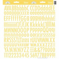 Doodlebug Design - Cardstock Stickers - Skinny Alphabet - Bumblebee