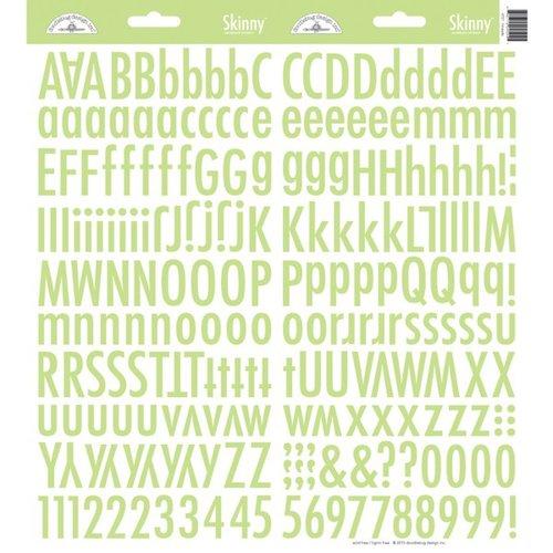 Doodlebug Design - Cardstock Stickers - Skinny Alphabet - Limeade