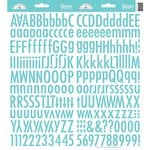 Doodlebug Design - Cardstock Stickers - Skinny Alphabet - Swimming Pool