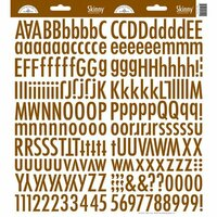 Doodlebug Design - Cardstock Stickers - Skinny Alphabet - Bon Bon