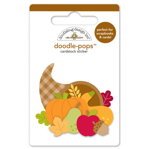 Doodlebug Design - Fall Friends Collection - Doodle-Pops - 3 Dimensional Cardstock Stickers - Give Thanks