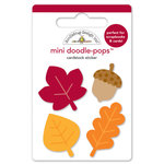 Doodlebug Design - Fall Friends Collection - Doodle-Pops - 3 Dimensional Cardstock Stickers - Little Leaves Min