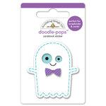 Doodlebug Design - October 31st Collection - Halloween - Doodle-Pops - 3 Dimensional Cardstock Stickers - Ghostie