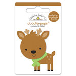 Doodlebug Design - Sugarplums Collection - Christmas - Doodle-Pops - 3 Dimensional Cardstock Stickers - Dasher