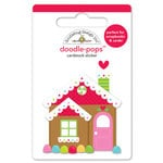 Doodlebug Design - Sugarplums Collection - Christmas - Doodle-Pops - 3 Dimensional Cardstock Stickers - Candy Cottage