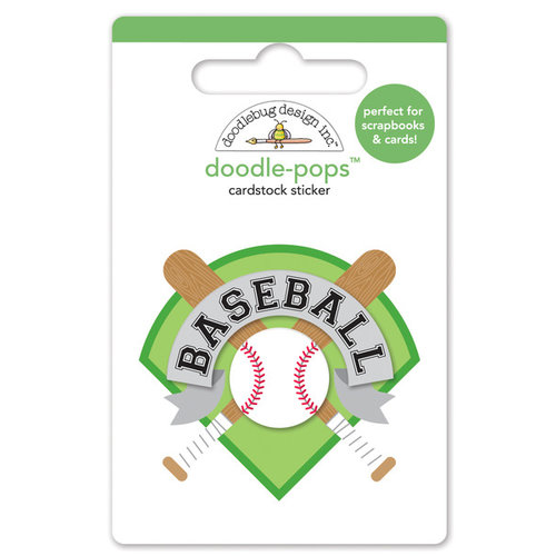 Doodlebug Design - Home Run Collection - Doodle-Pops - 3 Dimensional Cardstock Stickers - Home Run