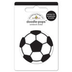 Doodlebug Design - Goal Collection - Doodle-Pops - 3 Dimensional Cardstock Stickers - Soccer Ball