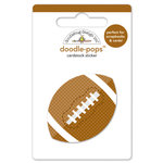 Doodlebug Design - Touchdown Collection - Doodle-Pops - 3 Dimensional Cardstock Stickers - Football