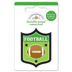 Doodlebug Design - Touchdown Collection - Doodle-Pops - 3 Dimensional Cardstock Stickers - Touchdown